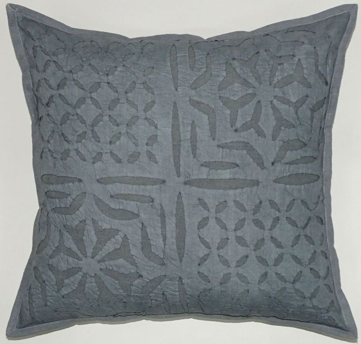 Pc Lot Indian Cotton Cushion Cover Cut Work Design Gray Handmade