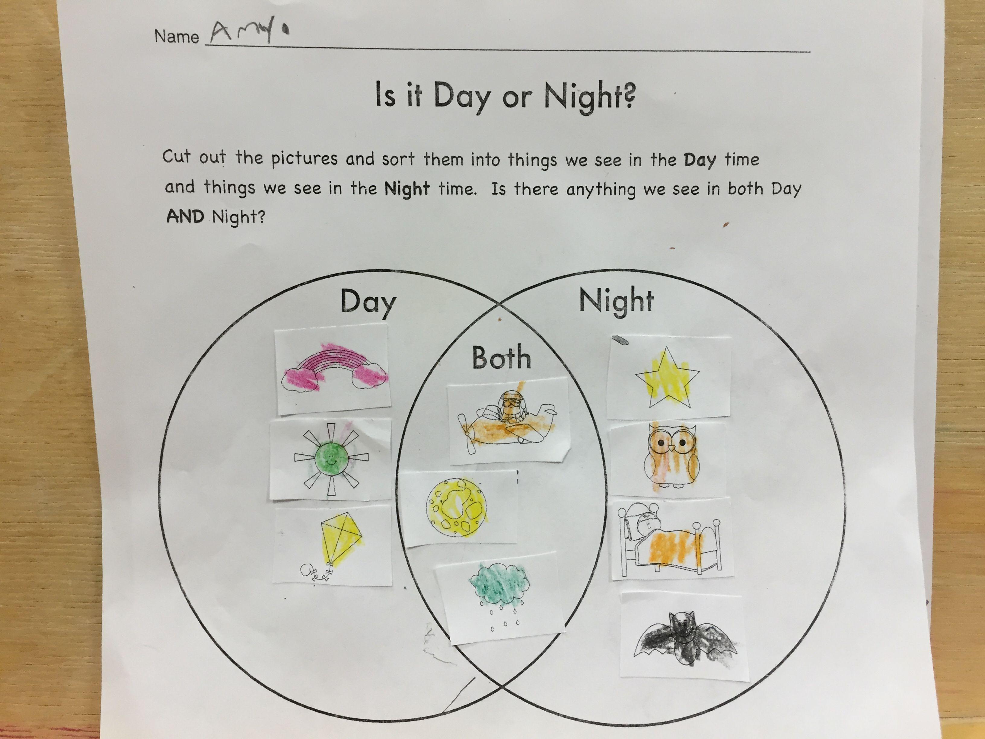 Is It Day Or Night Venn Diagram
