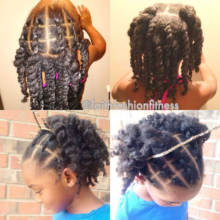 Natural Hairstyle I saw online and tried to in my daughter It