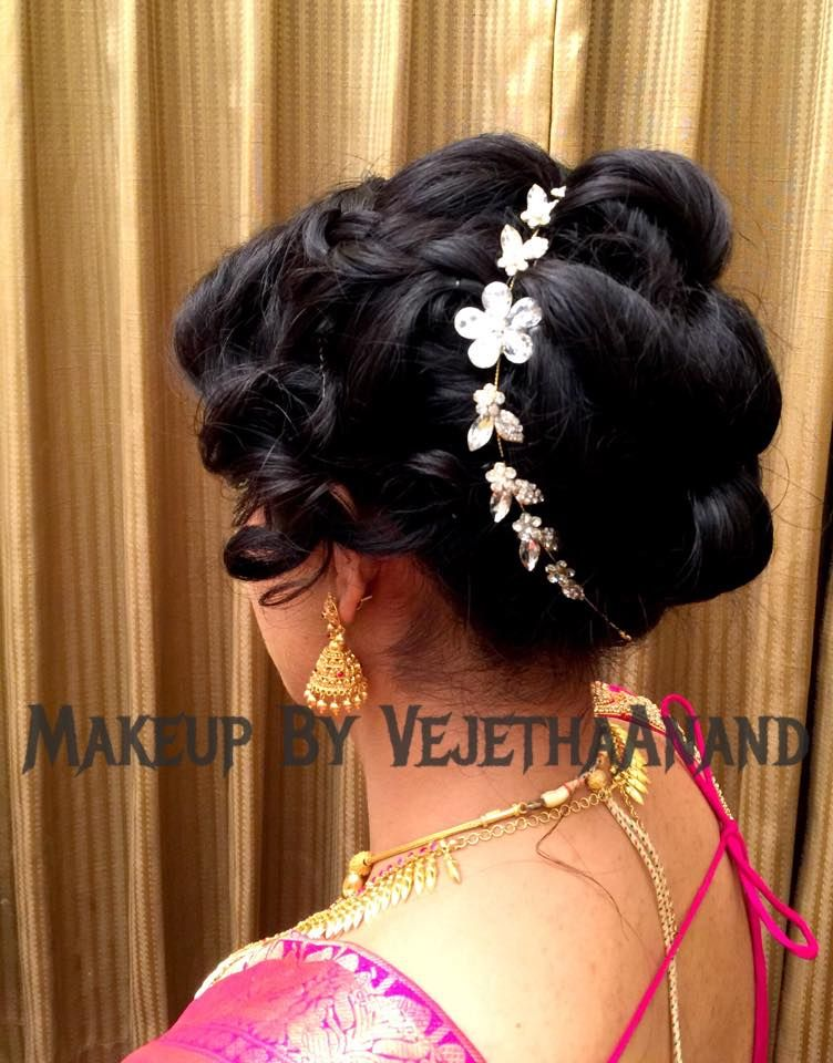 Indian Brides Bridal Reception Hairstyle By Vejetha For