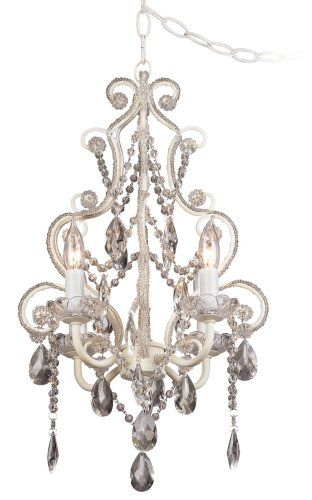 Leila White Clear Swag Plug In Chandelier Universal Lighting And Decor Http