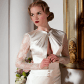 Wallis wedding dress organic silk wedding dress with full lace