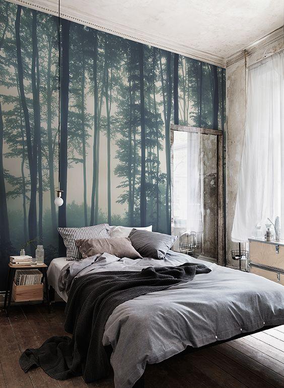 sea of trees forest mural wallpaper | muralswallpaper.co.uk