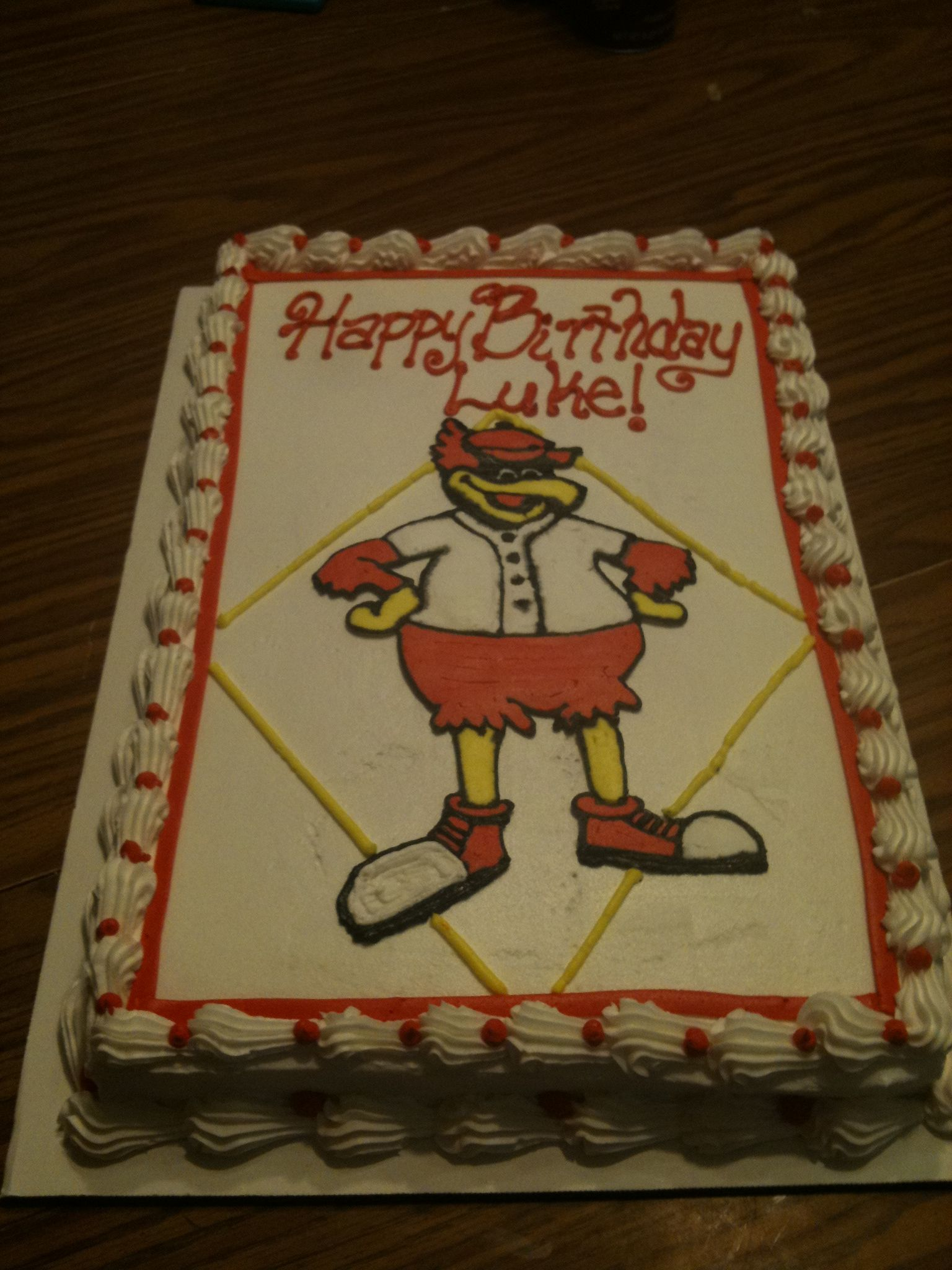 Fred Bird Birthday Cake I Want A Cake Just Like That But