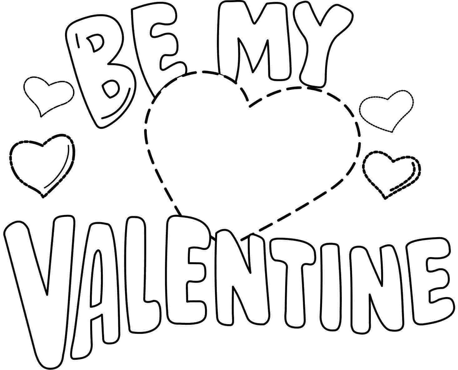 Free Valentine Coloring Sheets For Kindergarten