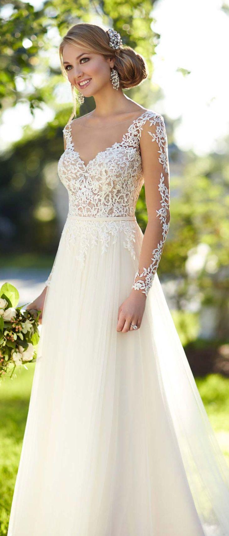 Stella York long lace sleeved wedding dress u  Pinteresu