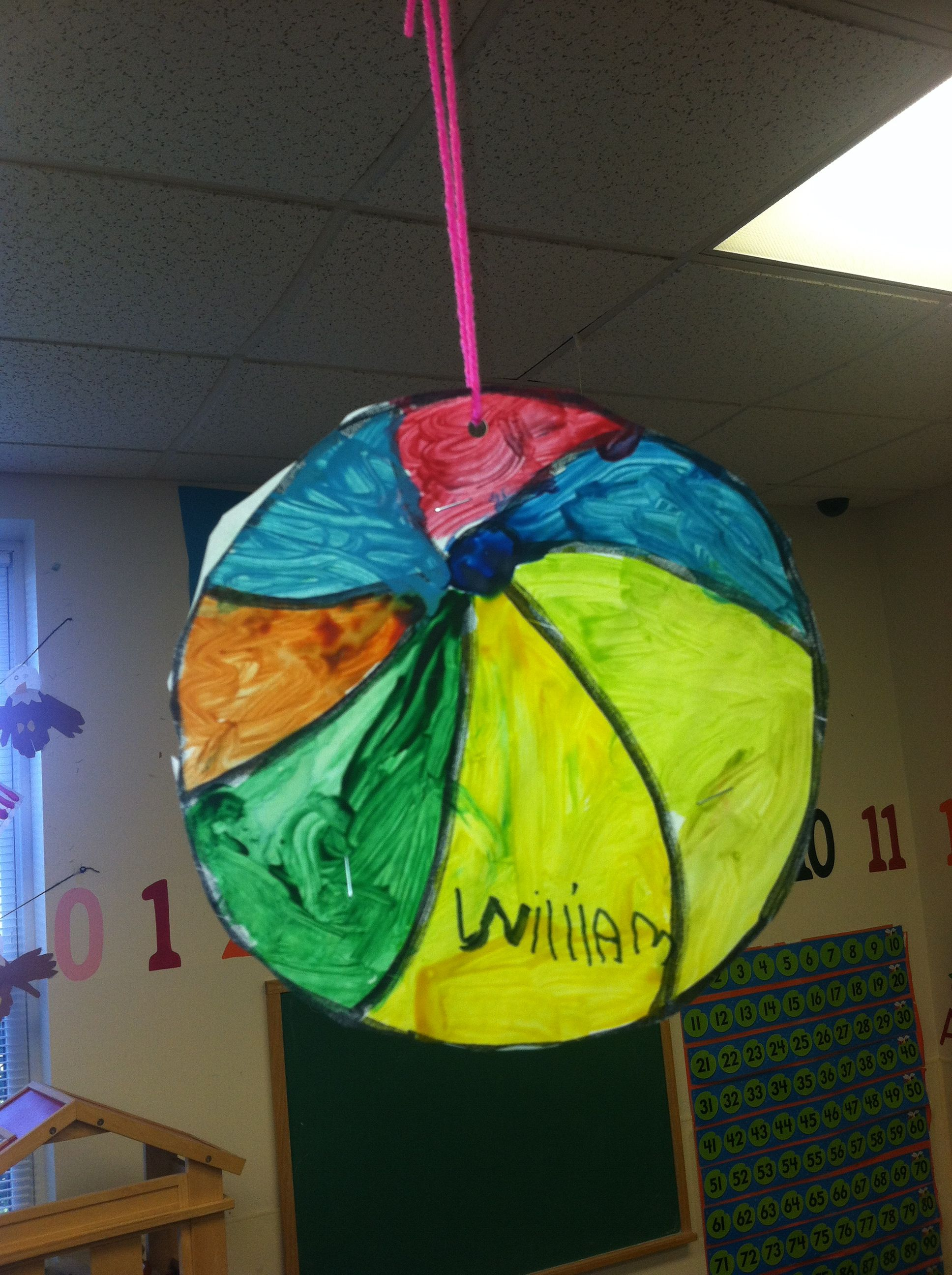 Beach Ball Craft For Beach Unit Perfect For Something To