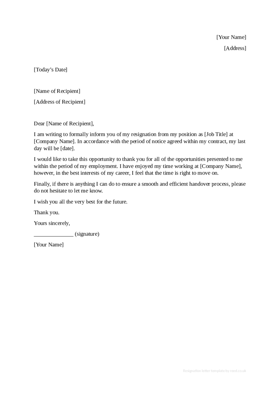 Best Resignation Letter Early Release Contemporary - Triamterene ...