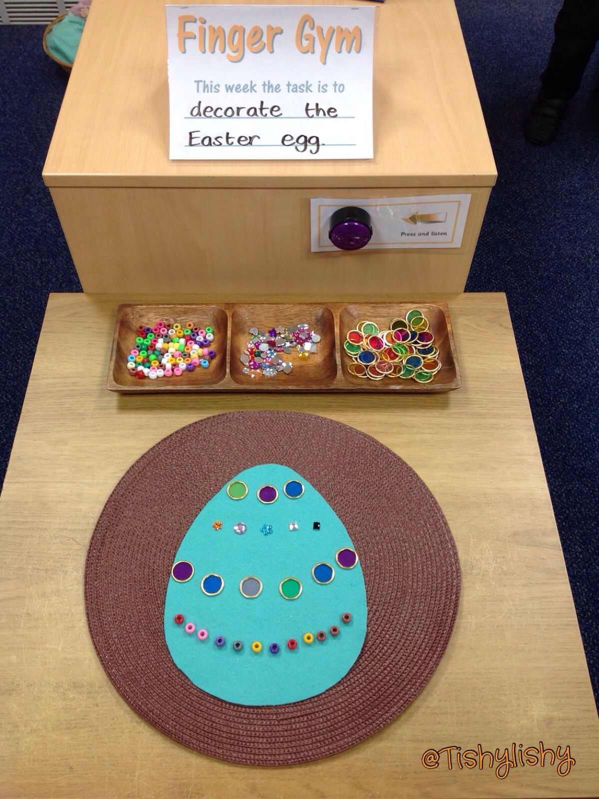 Finger Gym With An Easter Egg Theme