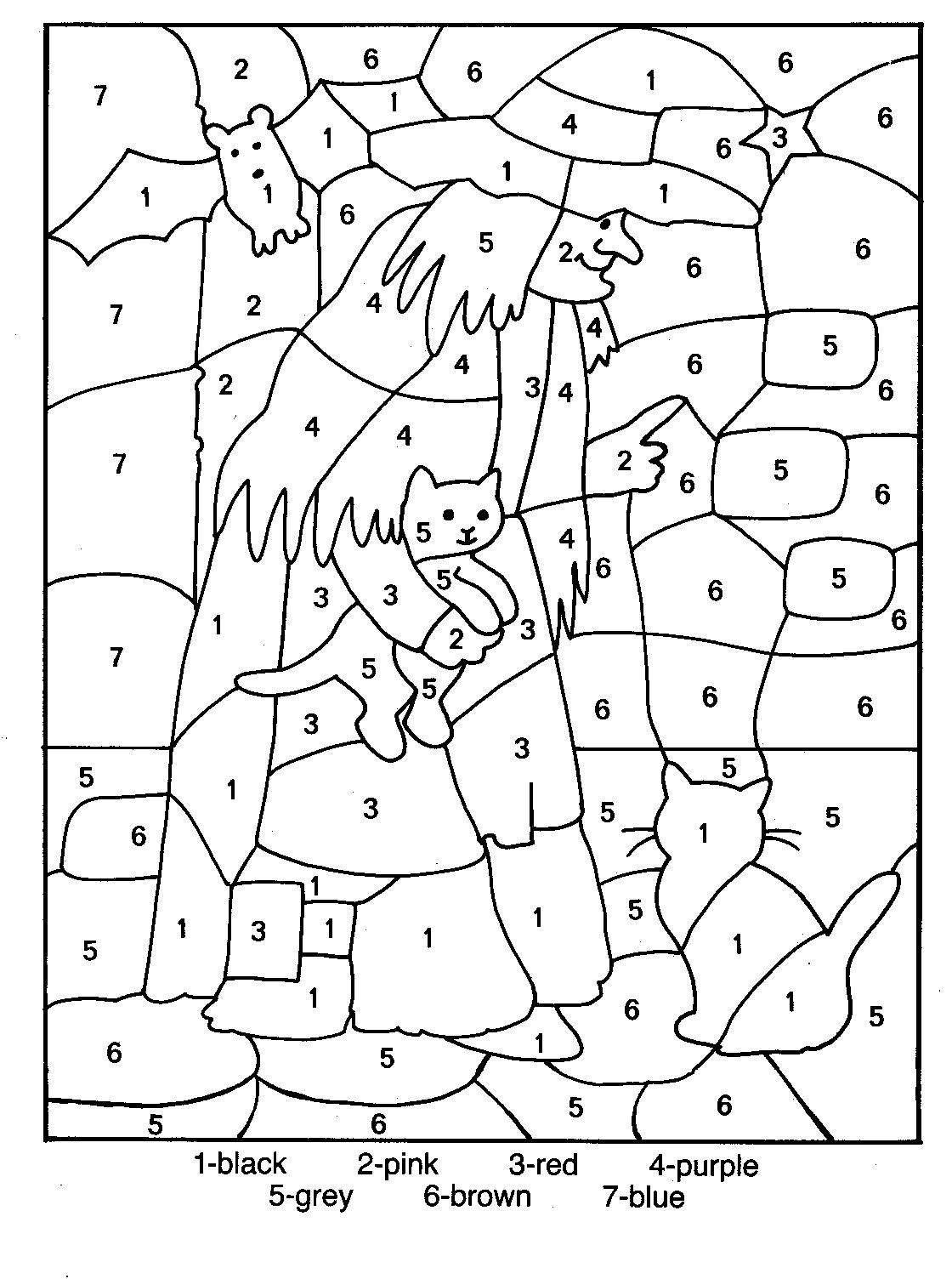Color By Number Coloring Pages For Kids 4 1 120 1 504