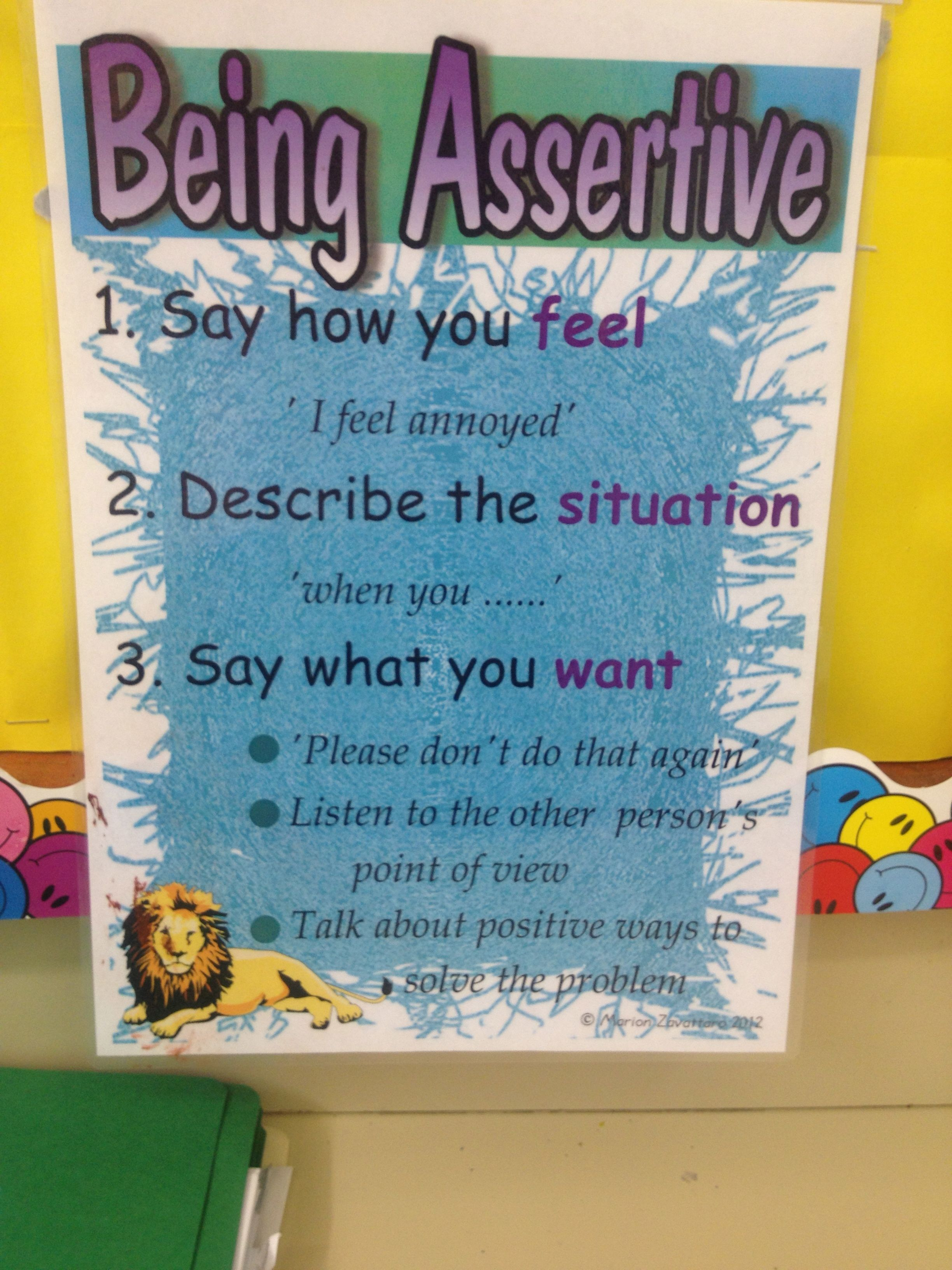 Being Assertive Interpersonaleffectiveness Assertiveness My Ny Resolution One Of Them Was