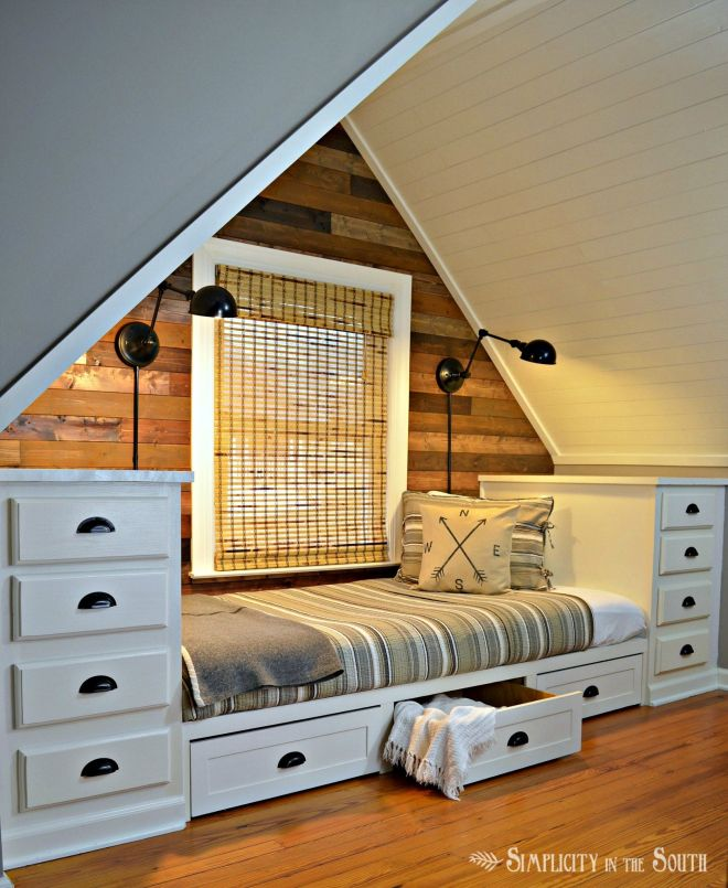How to make a builtin bed using kitchen