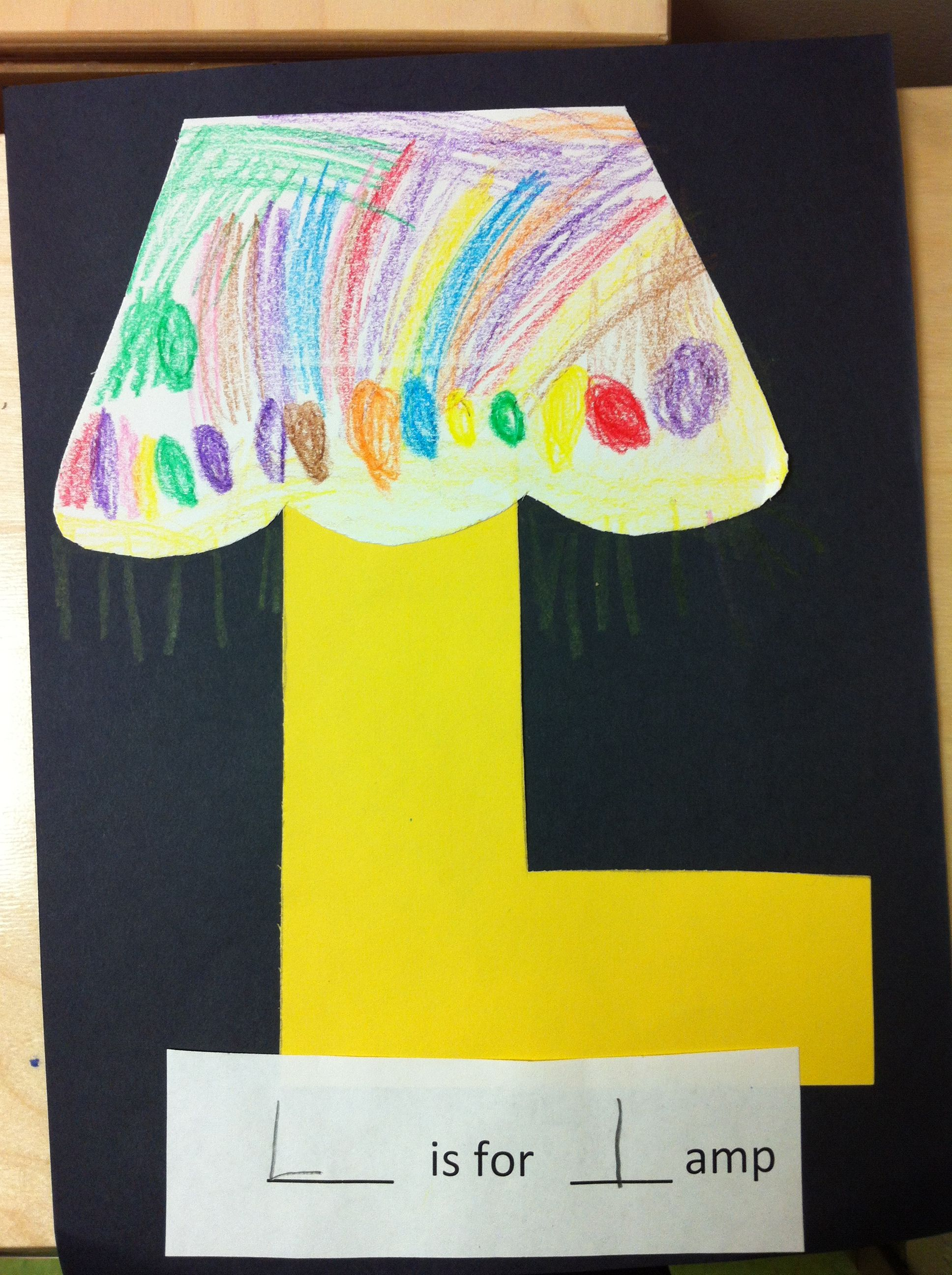 L Is For Lamp Pre K Letter L Craft
