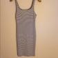 Zara navy striped tshirt dress knee length simple dresses zara