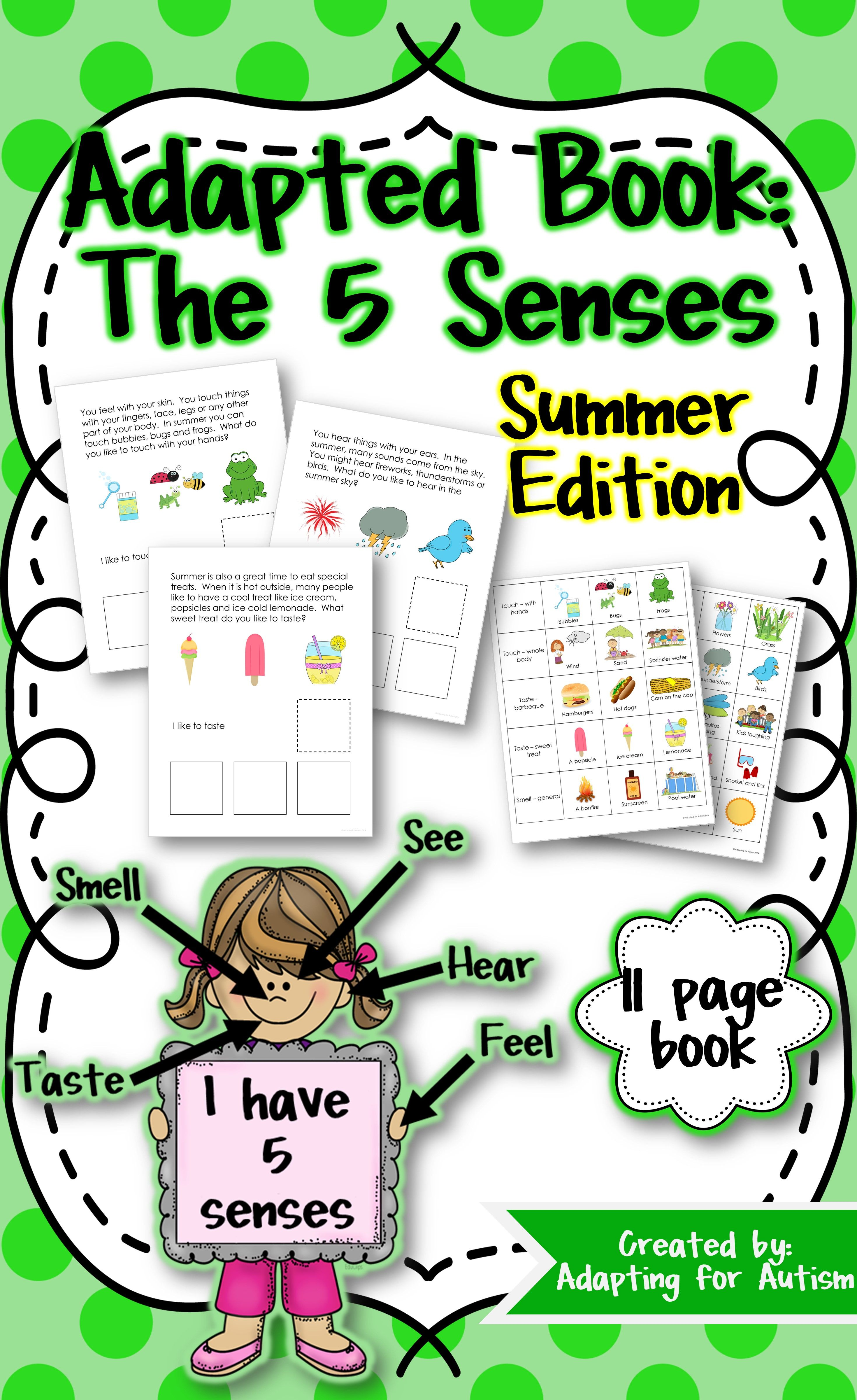 Summer Adapted Book 5 Senses Autism Amp Special Education