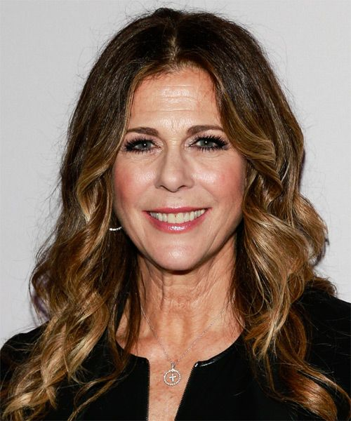 Rita Wilson Hairstyle Long Wavy Casual Medium Brunette