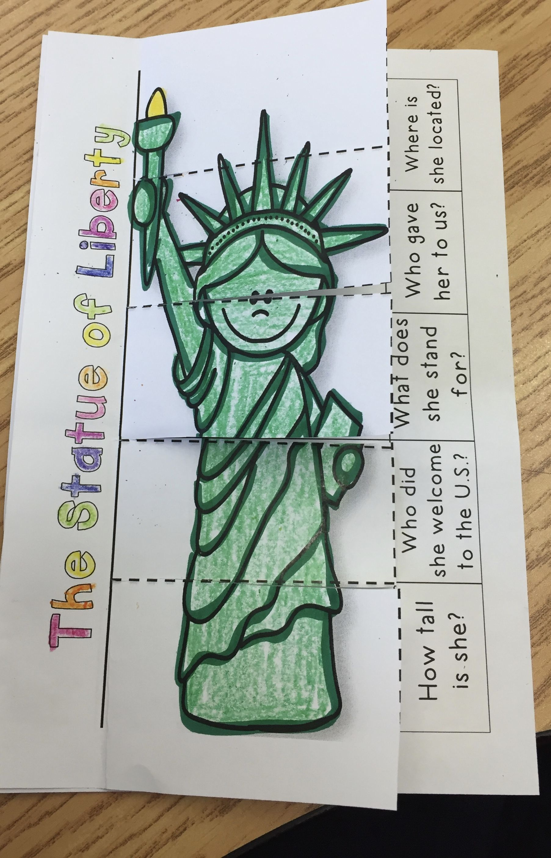 Statue Of Liberty Mini Reader And Flip Book