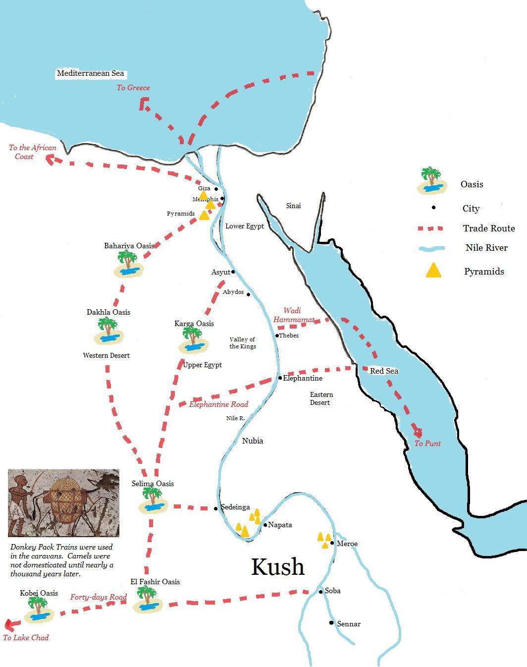 Kingdom Of Kush Ancient Sahara Trade Routes