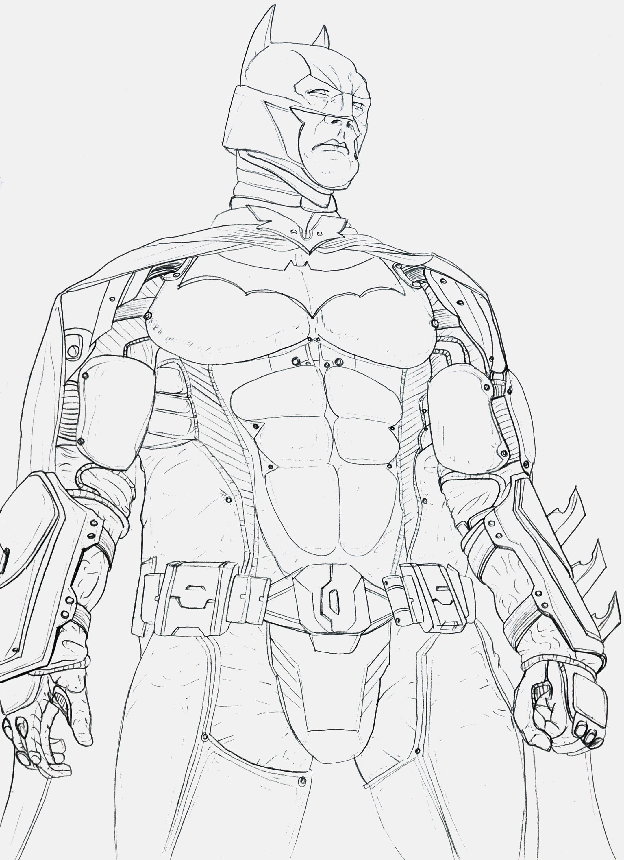 Batman Arkham Knight Sketches Drawings