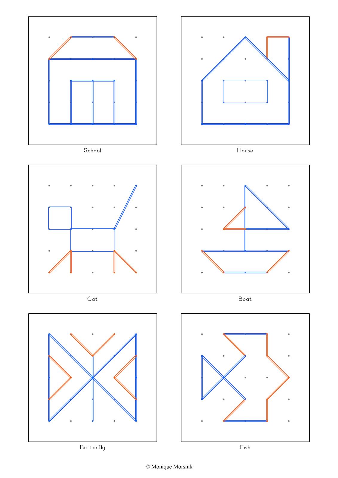 Geoboard Worksheet For Kindergarten
