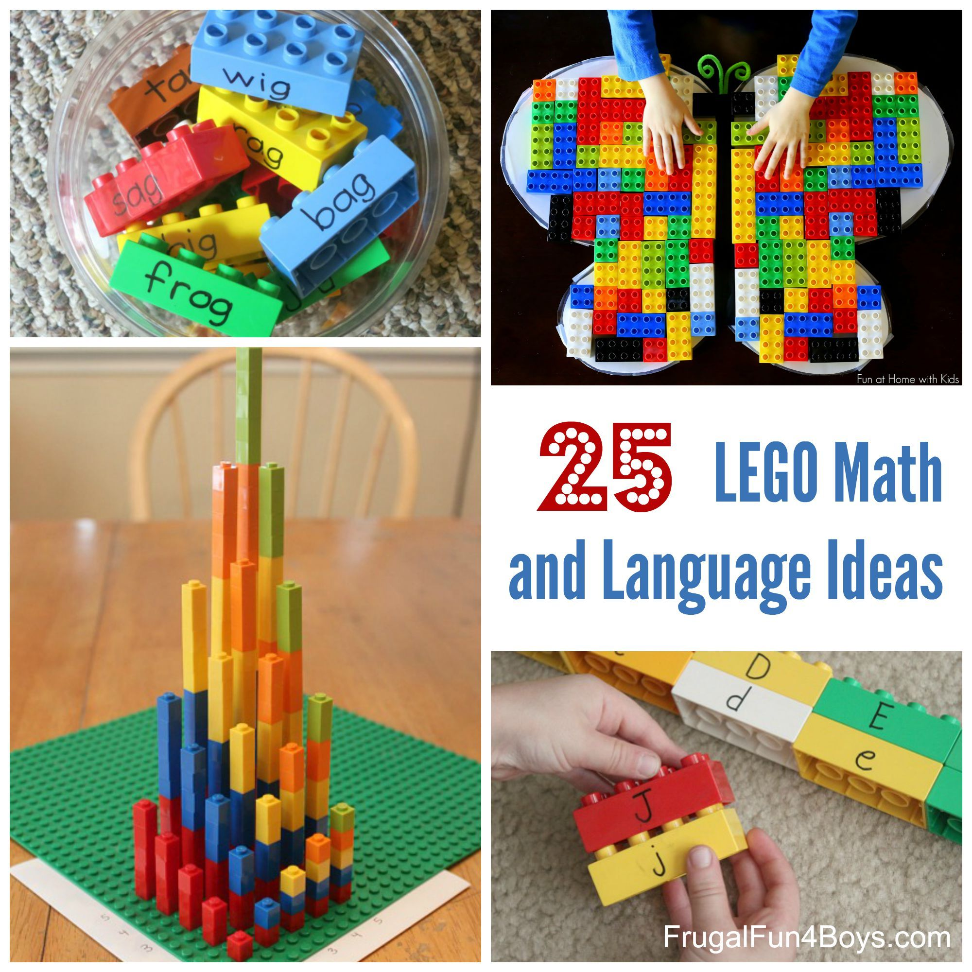 Lego Learning 25 Math And Language Ideas For Preschool