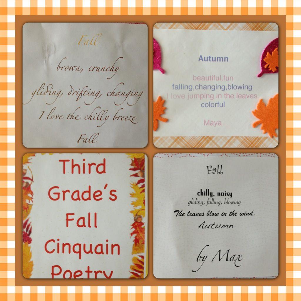 3rd Grade Fall Cinquain Poetry