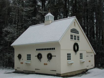 Garage Saltbox Style Country Carpenters Inc New England