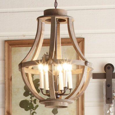 Rustic Wood Basket Lantern Large 299 00