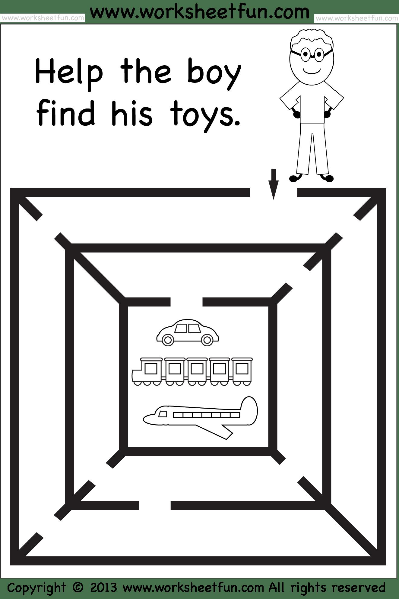 Kindergarten Mazes