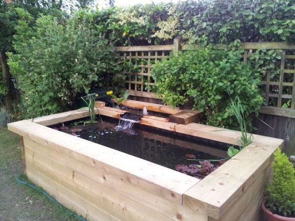 raised koi pond garden patio fish ponds | Raised Pond | Raised garden beds layout
