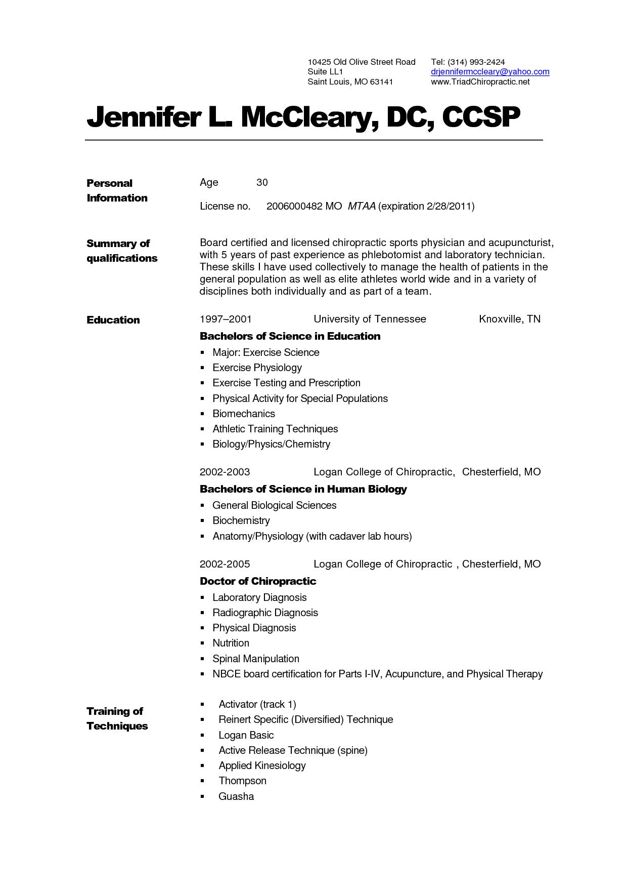 Example Chronological Resume Additional Skills Doc Sample Cover  Examples Of Chronological Resumes