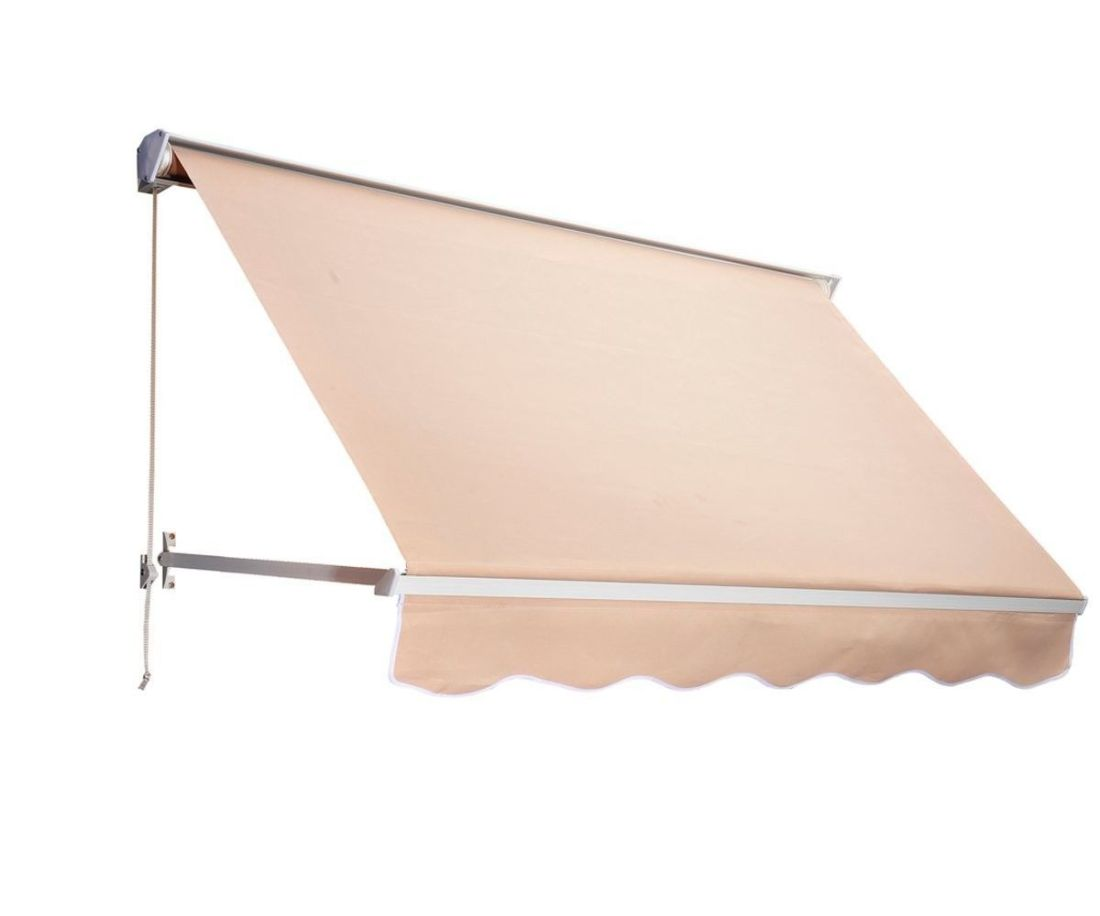 Outsunny rectangular window awning diy with store
