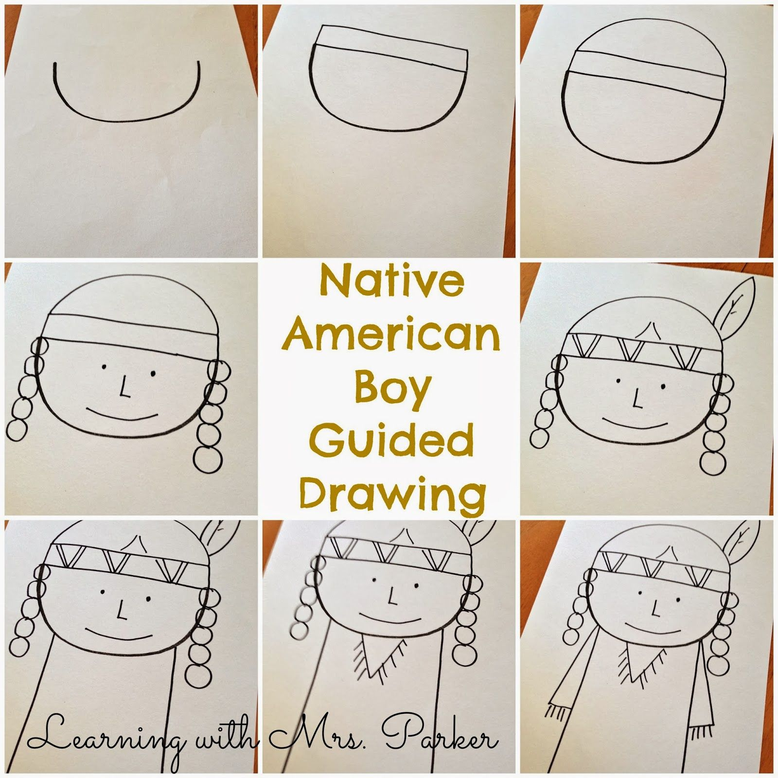 A Step By Step Visual Guide Of How To Draw A Pilgrim Boy