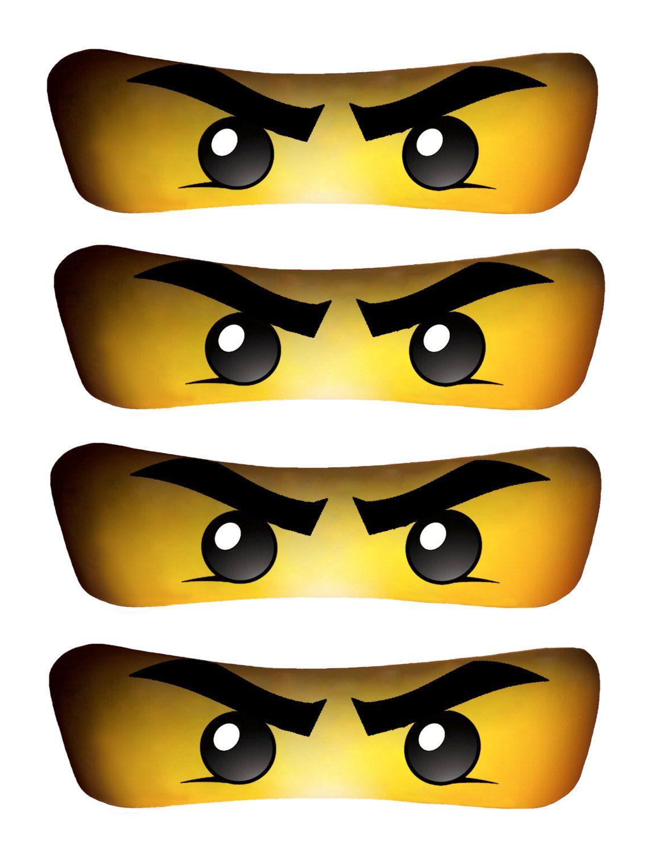 Lego Ninjago Face Template