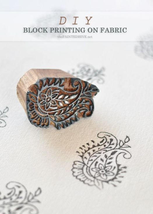 Fantastic Tutorial For How To Block Print Your Own Fabric
