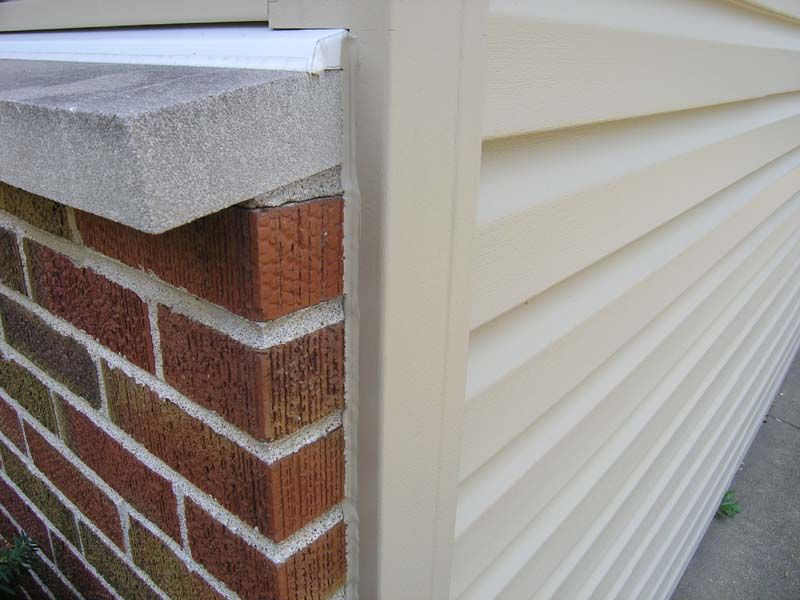 Flashing And Caulking Where Siding Corner Meets The Brick