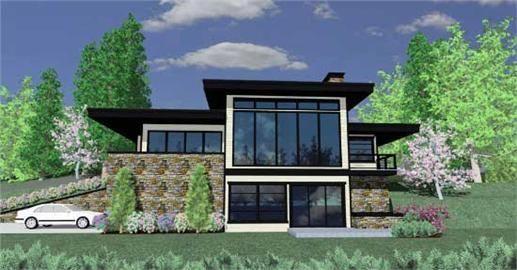 modern house plans sloped lot design