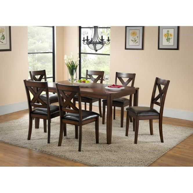 Palm Springs 7 Piece Contemporary Wood Dining Set Weekends Only Furniture And Mattress