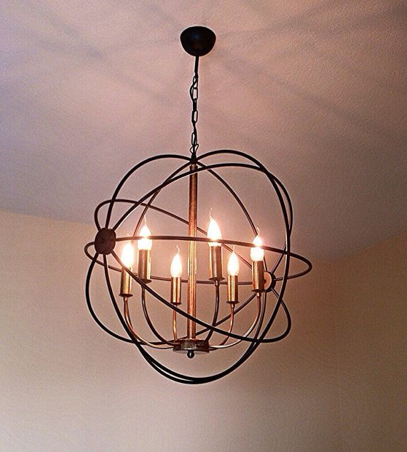 Orbit Handmade Pendant Light Chandelier Edison Restoration Style