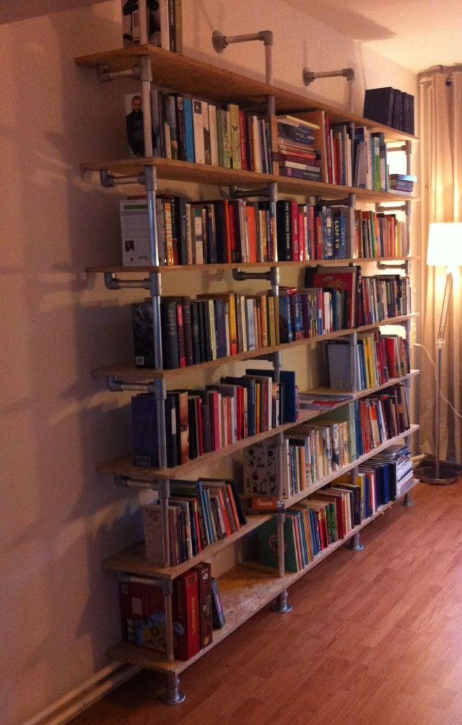 Diy bookshelf perfect for new library room industrial