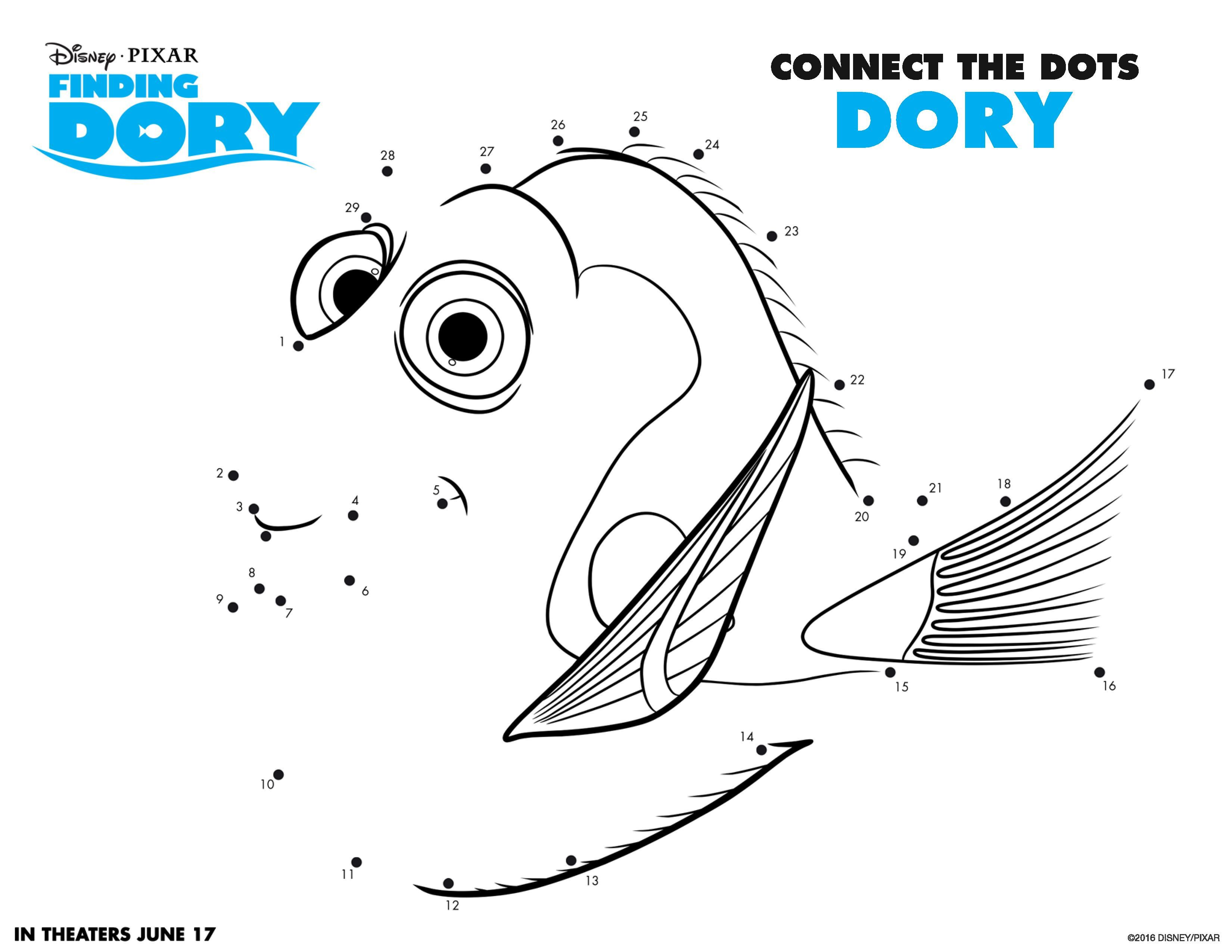 Finding Dory Coloring Pages And Activity Sheets Dory And Activities