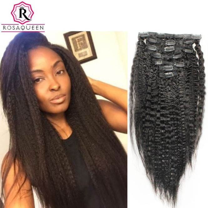 Human hair extensions for african american the best hair 2017 yaki clip in hair extensions for african american women pmusecretfo Gallery