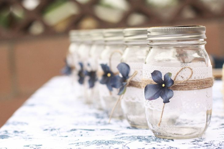 Too cute for words  countrystyled mason jars See more lovely