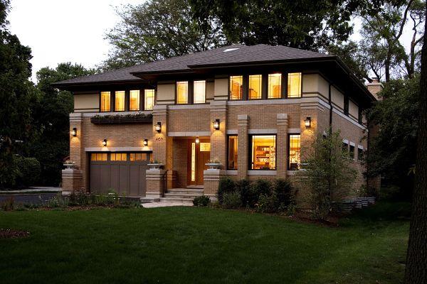 New Prairie Style House West Studio Frank Lloyd Wright