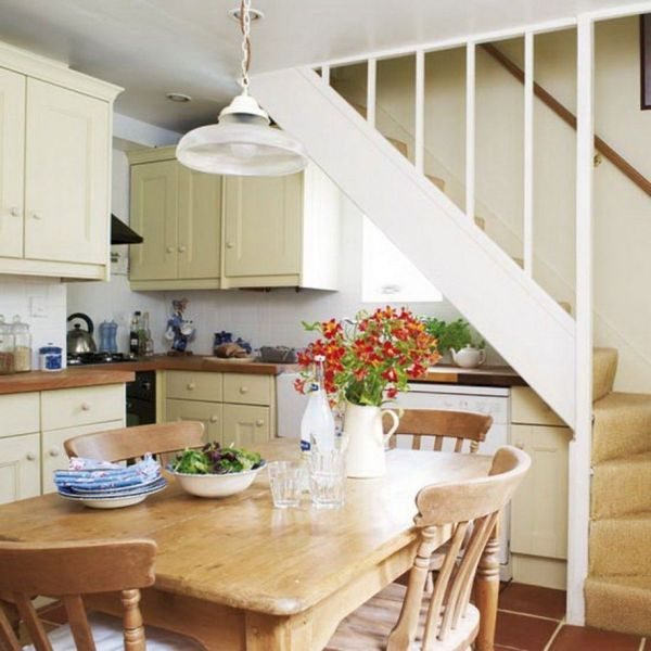 Building a Unique Kitchen Design Under Stairs Kitchen