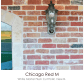 Chicago red m white mortar flush cut finish view b decorating