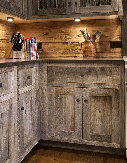 Barn Siding Wood Furniture Pine Kitchen Cabinets