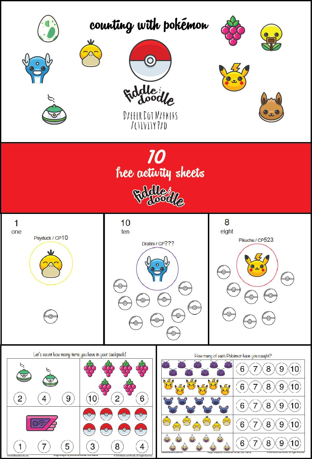 Free Activity Sheets For Dabber Dot Markers