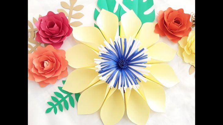 DIY Paper Flower Tutorial October Flower Series   Flores