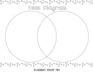 Venn Diagram {printable} | Venn diagrams and Teaching